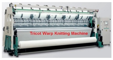 tricot warp knitting machine